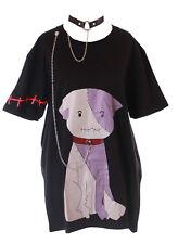 TP-144 Nero Diavolo Zombie Cane Dog Collana Catena-Metallo lungo T-Shirt Kawaii