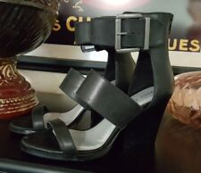 VERY VOLATILE Womens TIGGY Leather Open Toe Ankle Strap Sandal Black Sz 6.0 NWOB
