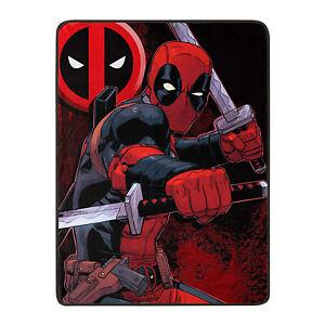 "Marvel Comic Deadpool Swordsman Throw Blanket Warm Soft Super Throw 46"" x 60''"