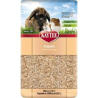 Kaytee Aspen Bedding 500 Cubic Inch expands to 1200 Cubic Inch