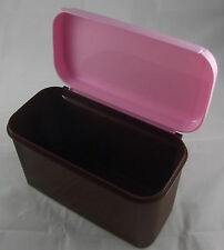 Tupperware Bellevue Dose 2,6 l Hoch Braun / Pink Rosa Neu OVP