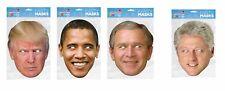 Donald Trump, Barack Obama, George Bush and Bill Clinton USA President Fancy