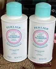 Lot of 2 Perlier White Almond 3.5 OZ Absolute Comfort Talcum Powder