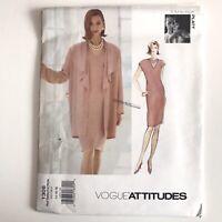 Vogue V1267 Tom /& Linda Platt patrón extraña Vestido Tallas 8-16 sin cortar