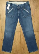 """Women's Authentic Diesel Junnie Denim Jeans 31"""" x 34"""" New With Tags"""