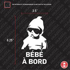 2X BÉBÉ À BORD sticker vinyl car decal white
