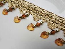 DIY Craft 1m Crystal Bead Trim Decoration Accessory Curtain Tassel  bronze