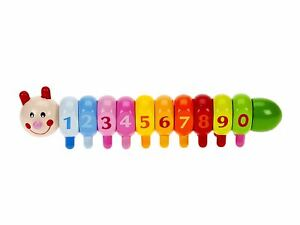Mousehouse Traditional Wooden 1234 Caterpillar Number Puzzle for Toddlers