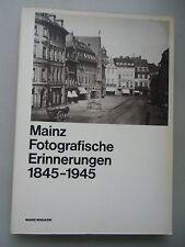 Mainz Fotografische Erinnerungen 1845-1945 von 1980 Fotografie Pfalz