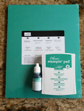 Stampin Up Emerald Envy Ink, Refill & Card Stock