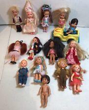 Lot Of 14 Kelly Dolls & 1 Car Barbie Mattel
