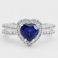 Heart - Tanzanite & Cz 925 Sterling Silver Ring Jewelry DGR1070_D