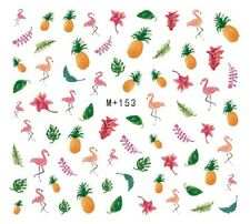 Latest Summer Flamingo Pineapple Water Decals Nail Art Sticker for Nail Polish
