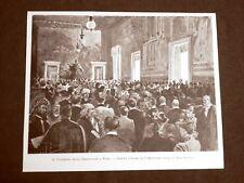 Roma nel 1899 Congresso degli orientalisti Seduta d'onore al Campidoglio Lazio