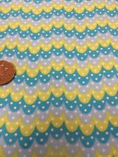 100% Cotton Quilting craft  Fabric Blue Green Spotty Chevrons Gelati Owl