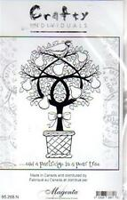 New CLING Crafty MAGENTA Rubber Stamp Partridge pear tree Christmas Holiday