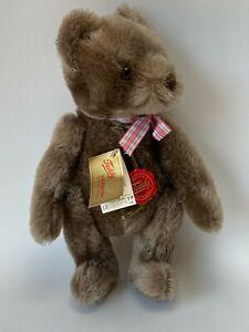 "Vintage 1980's Hermann Teddy Bear Mohair 11"" Jointed & Musical West Germany"