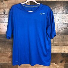 Nike Dri Fit Mens Blue Tshirt Large
