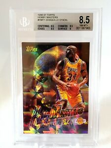 (010) SHAQUILLE O'NEAL 1996-97 Topps Hobby Masters #HM11 Lakers Insert BGS 8.5