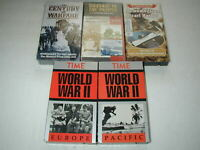 WWII WORLD WAR II DOCUMENTARIES 5 PACK VHS LOT RARE OOP HTF