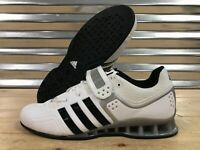 Adidas AdiPower Weightlifting Shoes Trainers White Black Silver SZ ( M25733 )