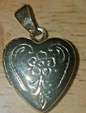 Gold Coloured Engraved Heart Shaped Locket Pendant