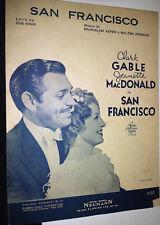SAN FRANCISCO CLARK GABLE J MACDONALD PARTITURA MUSIC SHEET VINTAGE ARGENTINA!