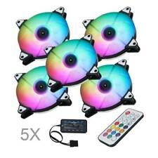 PC Gehäuse Lüfter 120mm Mehrfarbig Doppelring LED Computer Gehäuselüfter RGB