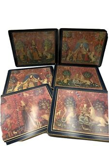 Lady Clare Pallas Tapestry Vintage Table Mats X6 In Box Used