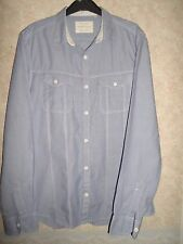 RIVER ISLAND SEMI FITTED BLUE COTTON SHIRT SIZE M