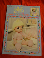 LEISURE ARTS LEAFLET 3210 PRECIOUS MOMENTS BABY DOLLS & AFGANS