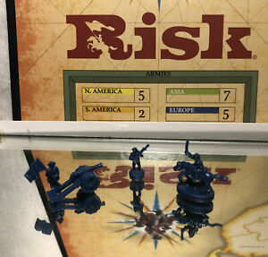 2003 PARKER BROS GAMES: RISK GAME PIECE LOT (BLUE FIGURES) PRE OWNED