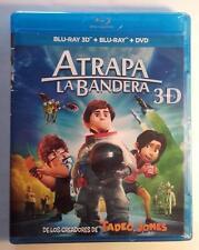 ATRAPA LA BANDERA 3D 2D DVD BLURAY BLU-RAY NUEVO DIBUJOS ANIMADOS INFANTIL