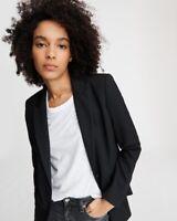 BNWT Rag & Bone Women's Hazel Solid Blazer Black Tropical Wool 2 AW19 Tailoring