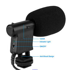Mic Condenser Microphone Camera Shortgun DSLR Pentax Sony Canon BY-VM01