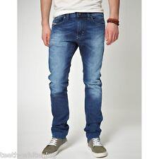 Diesel Men's W31 L34 Blue Wash THAVAR 0885B Skinny Denim Jeans - RRP $440 AUD