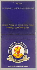 Vintage Matchbook ROYAL LAHAINA RESORT Maui HI Hawaii