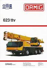 Ormig 623 ttv Autokran Mobilkran Prospekt 2001 mobile crane autogrue brochure