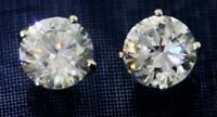1 ct Earrings Brilliant  Top Cubic Zirconia Best Faux Solid Sterling Silver