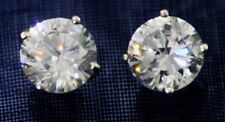 Quality Cz Extra Brilliant Solid Silver 8 ct. Earrings Brilliant Top Russian