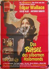 RÄTSEL DES SILBERNEN HALBMONDS (Plakat '72) - ANTONIO SABATO / EDGAR WALLACE
