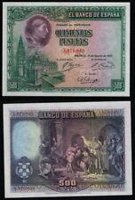 500 Pesetas año 1928. Cardenal Cisneros. Sin Serie 1979849. PLANCHA NO CIRCULADO