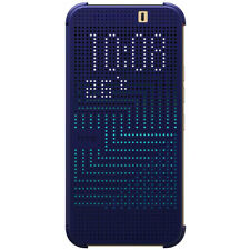NEW OFFICIAL HC M231 HTC ONE M9 DOT VIEW FLIP SHELL CASE COVER BLUE 99H20103-00