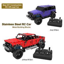 DIY Stainless Steel Remote Control Vehicle RC Pickup /Jeep Metal Building Blocks