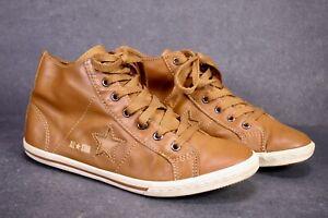 CB1176 Converse One Star Pro Slim Mid-Top Damen Sneaker Gr. 38 Leder braun
