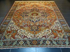 Gewebter Perser Orientteppich Heriz Teppich Rug Carpet Tappeto 280x245cm