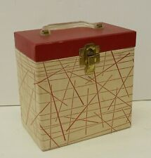 45 Record Carry Case Amfile Platter Pak Phonograph Record Case No 700F Red White