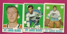 1970-71 OPC BLUES WAKELY GOALIE RC + STMARSEILLE + SUTHERLAND  CARD (INV# A1916)