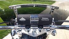 """KICKSTART BLUETOOTH MOTORCYCLE STEREO SPEAKER 1 1/8"""" BAR KIT FOR HARLEY HONDA"""
