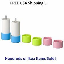 Ikea STUVA GRUNDLIG Replacement Legs (2) w/ Green/ Blue/ Pink Feet New SEALED!